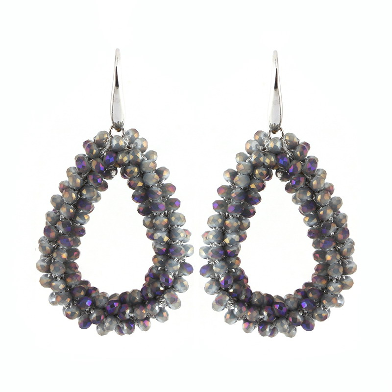 Earrings Purple Grey