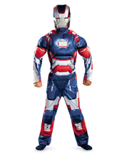 Iron Man 3 Patriot Muscle Child Superhero Halloween Costume Kids Fantasy Fancy Dress Avengers Superhero Carnival Party Disfrace(China)