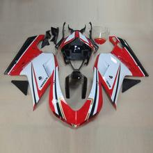 Plans to customize For Ducati 1098 1198 848 2007-2011 injection molding ABS Plastic motorcycle Fairing Kit Bodywork D19