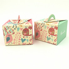 Big Heard Love 50pcs lovely birds baby shower candy box  favor box gift box souvenirs-baby-shower party supplies