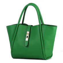 Women Bag Genuine Leather Tote Bucket Hand bags Green Black Red Gold Silver Fashion Designer Handbags High Quality Bolso