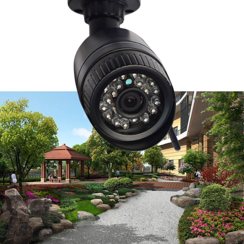 Seven Promise Hd 960p Ip Camera 1.3MP  Wifi Motion Detection Outdoor Waterproof Mini Card Black Cctv Home Surveillance Security<br>
