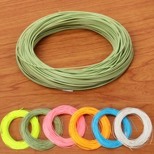 WF 1/2/3/4/5/6/7/8/9 F Weight Forward Floating Fluo yellow / Sky Blue / Moss green /Pink / White Fly Fishing Line(China)