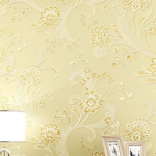 3D non-woven flocking stereoscopic flower wallpaper roll for bedroom living room,papel de parede floral<br>