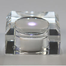Rechargeable K9 Crystal Square LED Light Base Stand for Jewelry Watch Gifts and crystal display