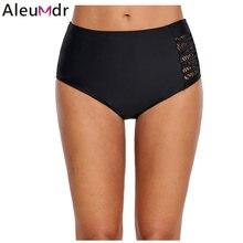 f2f7d3c2e5862 Aleumdr pantalones cortos Tankini Panty negro de tiras con Panel de encaje  de un lado