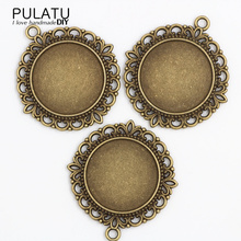 Buy PULATU 6pcs/lot Antique Gold Color Filigree Cameo Cabochon Base Setting Pendant Tray 39*43mm (Fit 25*25mm DIA) Jewelry Blanks for $2.30 in AliExpress store