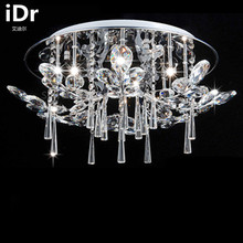 Japan Style living room crystal lamp modern circular living room led ceiling lights remote master bedroom free delivery(China)