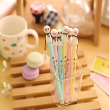 F13 4X Kawaii Cute Sunny Day Doll Gel Pen School Office Supply Student Stationery Kids Gift 0.38mm Black Ink