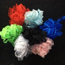 5 Yards Pretty Black White Pink Royal Blue Lace Accessories DIY Elastic Gauze Ruffle Lace Garment Stretch Lace 1.5cm Width(China)