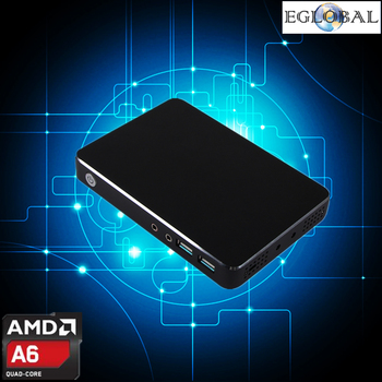 Amd a6 quad core mini pc windows 10 linux gpu radeon hd 8250 smart kit pocket pc htpc hdmi vga soporte de arranque pxe/wake-on lan