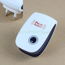 Electronic Ultrasonic Anti Mosquito Insect Mouse Pest Repellent Repeller EU Plug#T025#