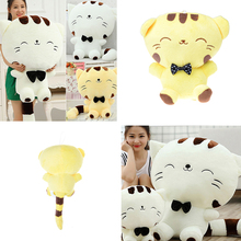 32cm Lovely Childen Toys Girls Gift Kawaii Cat Plush Cushion Bed Sofa Room Decor Large Face Cat Stuffed Toys Pillow(China)
