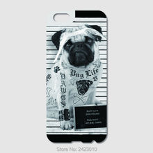 High Quality Cell phone case For iPhone 6 6S 7 Plus SE 5 5S 5C 4S iPod Touch 6 5 4 Case Hard PC Geek Custom Pug Patterned Cover