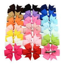 40pcs/lot 2016 Grosgrain Ribbon Pinwheel Bows With Clip Kids Hair Accessories Boutique Bows Clips/Hairpins 564