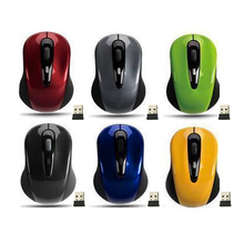 Mini Small USB Wireless Mouse Optical Cordless Mice for Laptop Notebook PC QJY99(China)