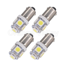 4pcs Hot Sale BA9S T11 H6W 5 LED 5050 SMD Car Interior Lights Reading Dome Lamp Map lighting Auto Bulbs DC 12V(China)