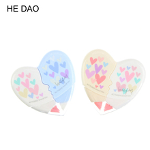 2 Pcs/set Love Heart Correction Tape Material Escolar Kawaii Stationery Office School Supplies Papelaria Correction Supplie(China)