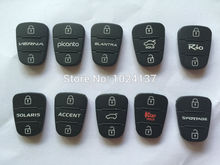 For New rubber 3 Buttons pad For Hyundai Solaris picanto for Kia rio hold Flip Remote Car Key Shell Blank Case Cover auto parts