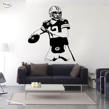 American Football Player Rugby Aaron Charles Rodgers Wall Sticker Art Sports Vinyl Removable Gym Stadium Gift Home Decor Mural(China)