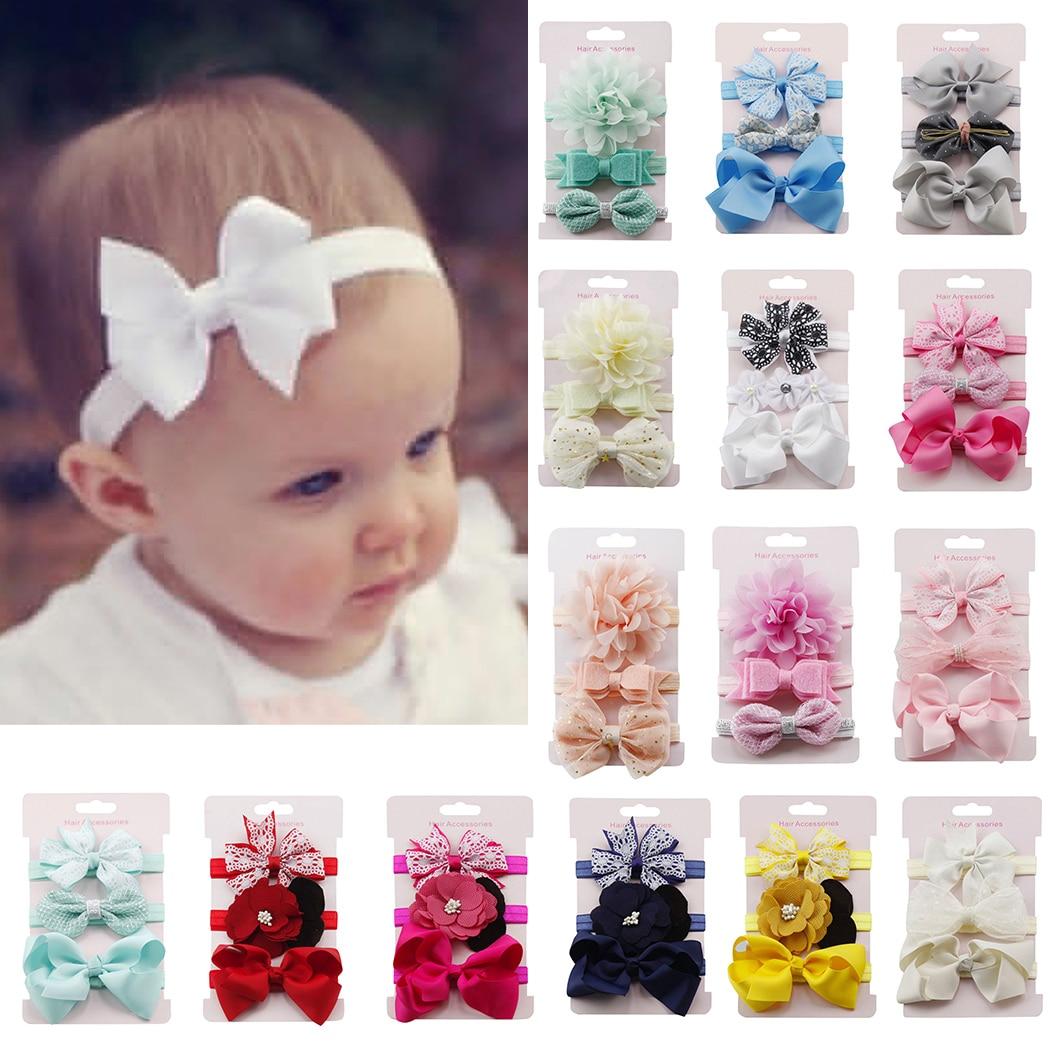 10Pcs Infant Baby Girl Bow Headband Newborn Hair Band Headdress Headwear high