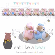 23cm Cute Bear Sleeping Comfort Doll Pat Lamp Doll Kids light LED Night Light Toy Eight Appease Bear Toys for Children(China)
