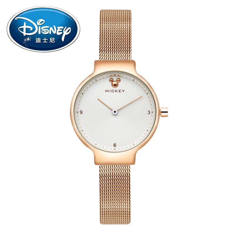 Disney Women Lady Watches Clock Brand Quartz Stainless Steel Children Fashion Luxury Wristwatches Girls Boys Mickey Mouse Gift<br>