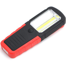 New Portable LED Light Hand Hold Magnetic Flashlight Torch Work Lamp With Magnet Hook for Camping Outdoor Sport HR