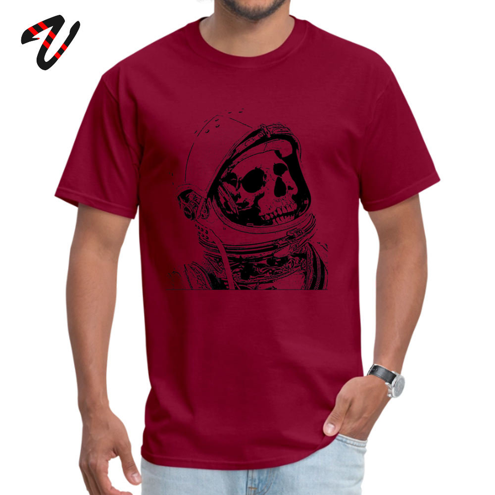 Death On Mars Top T-shirts for Men Customized Summer/Autumn Tops & Tees Short Sleeve Funky Tops Tees Crewneck Cotton Fabric Death On Mars 8712 maroon