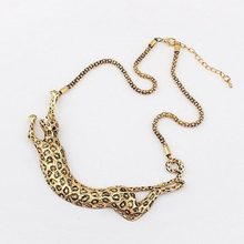 Leopard Necklace - Hot Sale New Fashion Good Guality Europe Gold Exaggerated Metal Leopard Necklace #1770095