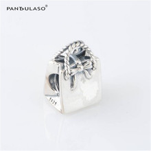 Pandulaso Signature Shopping Bow Bag Silver Beads Fit Charms Silver 925 Original Bracelets DIY Jewelry Beads for Jewelry Making(China)
