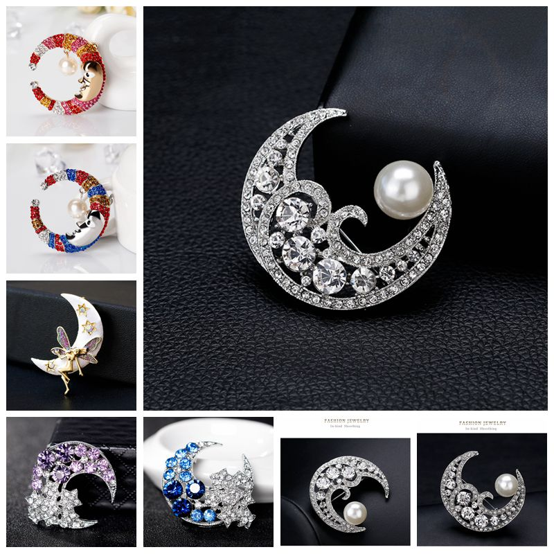 Lunir Women Fashion Alloy Rhinestone Crown Shape Pin Brooch Brooches /& Pins