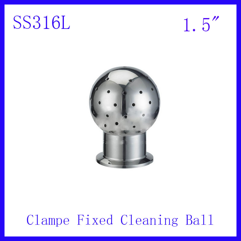 HOT 1.5 SS316L Stainless Steel 360 degree Spray Cleaning Ball Clamped fixed Tank  ball Tank Sanitary  Washing clean head<br><br>Aliexpress