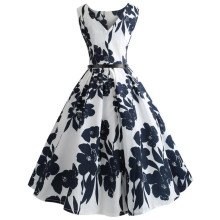 Buy White O Neck Vintage Slim Mini Floral Dress Women Print Bodycon Sleeveless Casual Party Dresses Formal Beach Sundress Dress#21 for $4.73 in AliExpress store