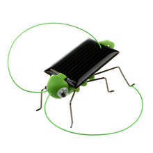 Solar Powered Grasshopper 5 pieces/pack(China)