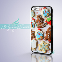 Coque Gingerbread Cookies Christmas Phone Cases for iPhone X 8 8Plus 7 6 6S 7 Plus SE 5S 5C 5 4S 4 Case for iPod Touch 6 5 Cover