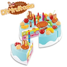 37pcs DIY Birthday Cake Model Kitchen Toy 3+ Children Kids Early Educational Classic Toy Pretend Play