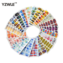 YZWLE 20 Sheets DIY Full Wraps Decals Water Transfer Printing Stickers Accessories For Nails Art(China)