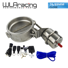 "WLR-NEW vacuum Activated Exhaust Cutout 3'' 76MM or 3.5"" 89MM Close Style with Wireless Remote Controller Set WLR-ECV04/05+ACC"