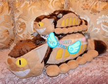 100% Positive Feedback!! 95cm biggest CATBUS My Neighbor Totoro Cat bus plush toy doll birthday gift Christmas gift 1pc