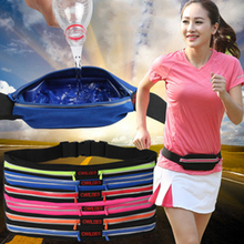 Outdoor Waterproof Sports Single Pouch Waist Bag Invisible Wasitband Running Gym Marathon Large Capacity Adjustable Lightweight