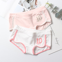 Buy High Quality Cotton Soft Women Underwear Middle Waist Seamless Knickers Calcinha Lingerie Girls College Style Breathable Panties