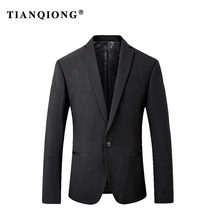 TIAN QIONG 2018 New Autumn Winter Mens Blazers Casual Suits Slim Fit Men Blazers And Jackets Brand Clothing OUTWEAR M-3XL(China)