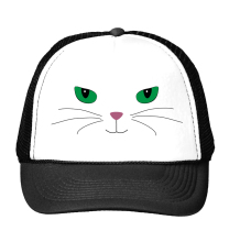 harajuku cat Print Trucker Hat Baseball Cap For Women Men Unisex Mesh Adjustable Size Tumblr Drop Ship M-126