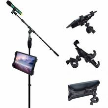 360 Degree Swivel Adjustment Music Mic Microphone Stand Tablet Holder Mount Holder for Apple ipad Samsung Google Tablet PC