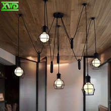 Vintage Spider Feet Iron Pendant Lights E27 Lamp Holder 110-240V Coffee House/Dining Hall/Club/Restaurant Lighting Free Shipping(China)