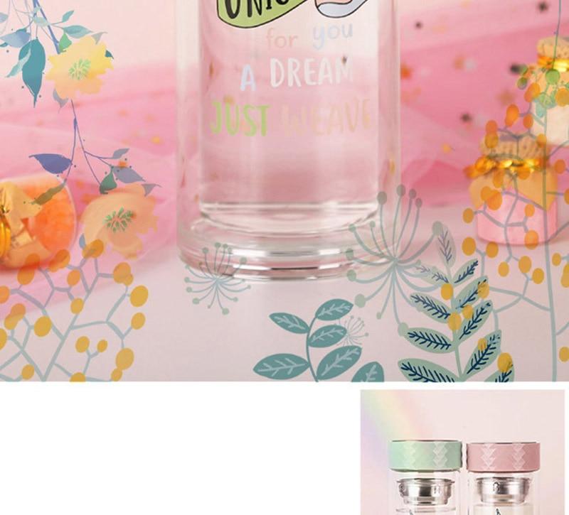 Double Wall Glass Water Bottle 9