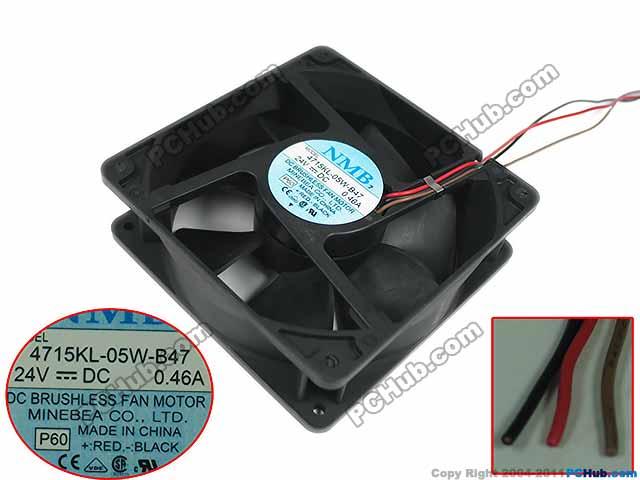Free Shipping For  NMB 4715KL-05W-B47, P60 DC 24V 0.67A, 120x120x38mm 3-wire 90mm Server Square cooling fan<br>