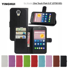 Fashion Cover Bag for Alcatel PIXI 4 (5.0) OT5010D Wallet Flip PU Leather Cell Phone Cases For Alcatel One Touch PIXI 4 OT5010D