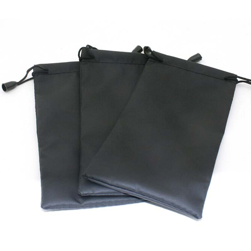 5PCS/lot Black Color Durable Waterproof Dustproof Plastic Sunglasses Pouch Soft Eyeglasses Bag Gasses Case Eyewear Accessories